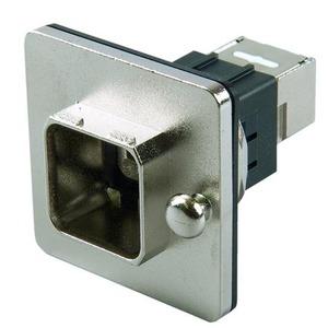 STX V14 Zentralverschr.-Flanschset, Metall, RJ45 Kuppl. Cat.6 Class EA(IEC), runder Mon.-aus.