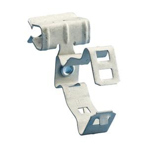 32M58SM, H-MSM Flanschklipp mit Kabelschutzrohr/Rohr Schelle, seitliche Montage, Federstahl, 2 EMT, 50–60 mm OD, 8–14 mm (5/16–1/2) Flansch