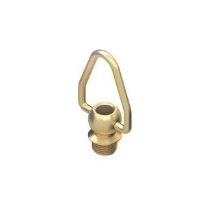 164, Ringnippel mit beweglichem Bügel, Höhe 46 mm, Gewinde M10x1, Messing, blank