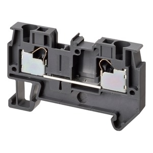 XW5T-P4.0-1.1-1, Reihenklemme, Durchgangsklemme, DIN-Hutschiene, TS 35, 4mm², Push-In Plus, dunkelgrau