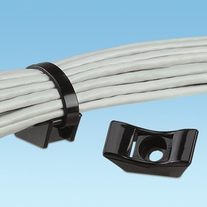 Kabelbinderbefestigung, Extra gross, M5 Schr, wetterbeständig Polyamid