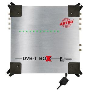 DVB-T Box, Kompaktkopfstelle 12 x DVB-S2 / COFDM, 12 frei wählbare Eingangssignale von 4 Satellitenebenen, 12 frei wählbare COFDM-Ausgangskanäle, integriertes Ne