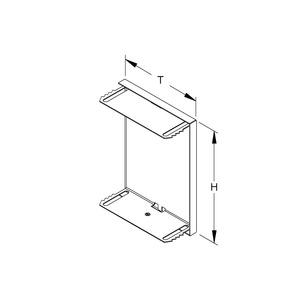GADU 170T100 WA, GK-Endabschlussdeckel, umgreifend, 172x100 mm, Stahl, bandverzinkt DIN EN 10346, pulverbe., RAL 9006, weißaluminium