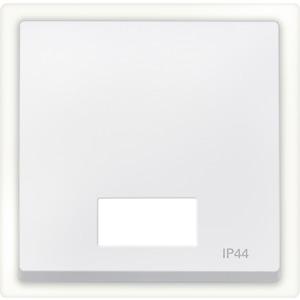 Wippe mit rechteckigem Symbolfenster IP44, polarweiß, System M