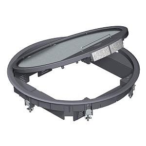 GESR9 SR U 9011, Geräteeinsatz für Universalmontage 324x324x62, PA, graphitschwarz, RAL 9011