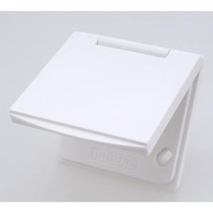 Premium Saugdose KF1 weiß, Kunststoff Saugdose weiß, Funk