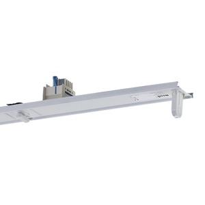 VLG 158-5 EVG, Geräteträger weiß, IP20, 5-polig, 1xT26 58W, EVG, L=1537mm. Beim variablen Platzieren der Geräteträger kann es zum Zusammentreffen von Betriebsgeräten