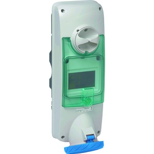 CEE Wandsteckdose verriegelt, 63A, 2p+E, 200-250 V AC, IP65
