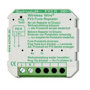 FV2 R, Funk-Repeater für FV2-System, 230V AC (UP)