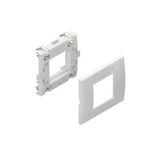 KESL-1.3, Geräteeinbausystem, Leerdose, Einbaubreite 93,5 mm, Abdeckung, RAL 9010, reinweiß
