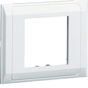 Blende Daten PVC Oberteil 80mm cremeweiß