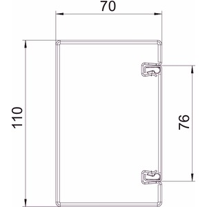 BSKM 0711RW, Brandschutzkanal I30 bis I120 mit Innenbeschichtung 70x110x2000, St, L, reinweiß, RAL 9010