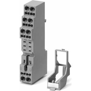 P2RF-08-E, Schraubsockel für G2R-2-S, DIN-Schienen-Montage/Oberflächenmontage, incl. Halteclip