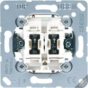 505 KO5 EU RG 230, Wipp-Kontrollschalter, 10 AX, 250 V ~, für Hotel-Display DND / MUR, Innenstelle