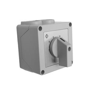 Manueller Stufenschalter, 0-1-2-3, 230V 20A,IP42, Aufputz