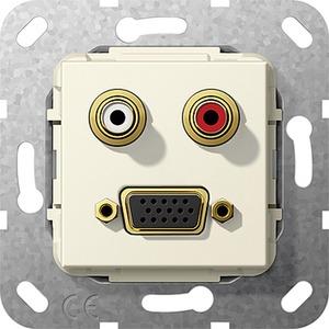C-Audio VGA 15-p Kpl. Einsatz Cremeweiß