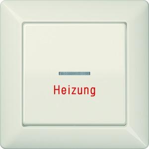 AS 590 H, Wippe, Linse, Lichtleiter, Aufschrift Heizung, Zentralplatte, für Wipp-Kontrollschalter, Tast-Kontrollschalter und beleuchtbare Taster