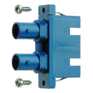 ST/SC Duplex Adapter, Multimode und Singlemode, Keramikhülse, Kunststoffgehäuse, inkl. selbstschneidende Befestigungsschrauben