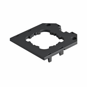 UT3 D1, Abdeckplatte für UT3, Tragring-Gerät 82,5x76x4, PA, graphitschwarz, RAL 9011