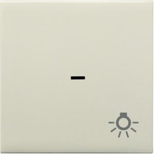 Kontrollwippe m. Licht-Symbol, creme
