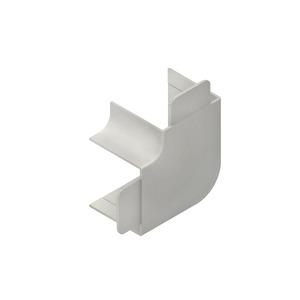 HW60130.3, Vertikaleck 90°, mit Laschen, 60x129 mm, reinweiß
