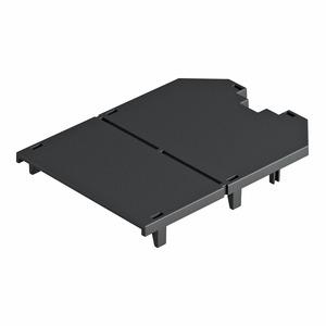 UT34 P0, Abdeckplatte für UT4, blind 104x76x2, PA, graphitschwarz, RAL 9011