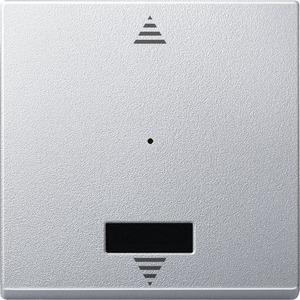 Wippe für Taster-Modul 1fach mit IR (Pfeile Auf/Ab), aluminium, System M