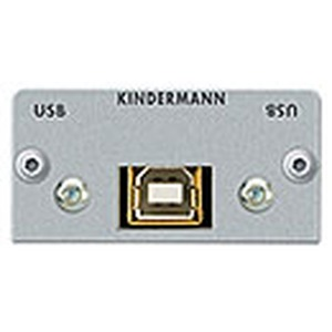 Anschlussblende mit Kabelpeitsche, USB 2.0 B-Buchse/ A-Buchse, Halbblende, Aluminium eloxiert