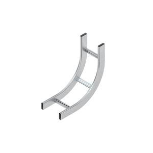 KRCS 60.625 F, Steigstück 90°, vertikal, mit gelochten C-Sprossen, 60x600 mm, Stahl, feuerverzinkt DIN EN ISO 1461