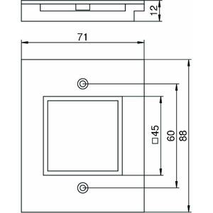 T12L P15S 9011, Abdeckplatte für 1f Modul 45 in T12L 71x88x12, PA, graphitschwarz, RAL 9011