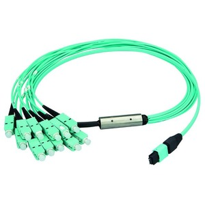 MPO/MTP® PC Aufteilkabel OM3, 12x SC/PC, 10 m