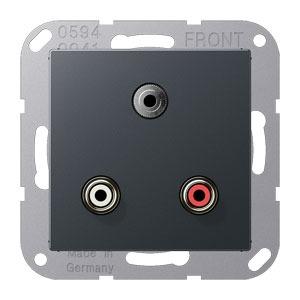 MA A 1011 ANM, Cinch Audio und Miniklinke3,5mm, Tragring, Schraubbefestigung, bruchsicher