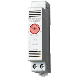 7T.81.0.000.2401, Thermostat für Schaltschrank, Reiheneinbaugerät 17,5 mm breit, 1 Öffner 10 A, einstellbar von -20 bis +40 °C