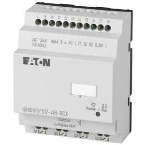 EASY512-AB-RCX, Steuerrelais, 24VAC, 8DI(2AI), 4DO-Relais, Uhr