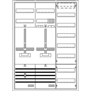 KS300, Komplettschrank, Aufputz mit Zählerkreuz, 3/3A 1Z1S1V7