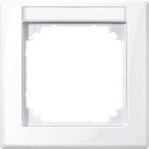 M-SMART-Rahmen, 1fach mit Beschriftungsträger, aktivweiß glänzend
