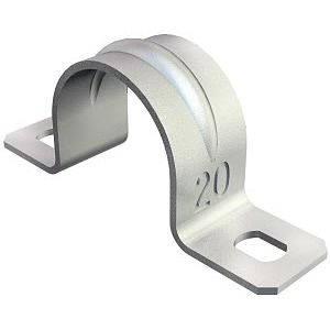 605 23 G, Befestigungsschelle zweilappig 23mm, St, G