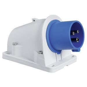 CEE Wandgerätestecker Schneidklemmen, 16A, 2p+E, 200-250 V AC, IP44