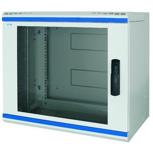 NWS-5B15/GL/SH, Wandgehäuse, 19 Zoll, 3-teilig, T=500mm, 15HE, Tür, Glas, +Schwenkhebel