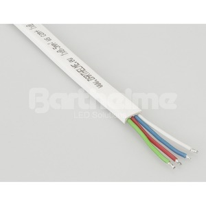 Flachbandkabel RGB weiß 4 polig pro Meter