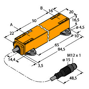 LI50P1-Q17LM1-LU4X2-0.3-RS5/S97, Induktiver Linearwegsensor