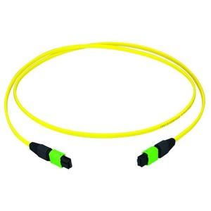 MPO APC female Patchkabel, gelb, E9/125 OS2, 5 m