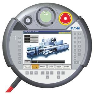 XVM-450-65TVB-1-11, Bedientableau, mobil, 24VDC, 6,5 Zoll, TFTcolor, Ethernet, RS232, Notaus, Schlüssel, Handrad