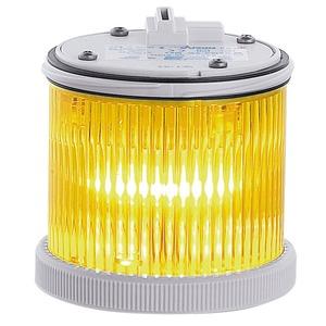 TWSX24DA gelb, Signalsäulenmodul TWS 75mm Xenon Blitzlicht 24V ACDC grau