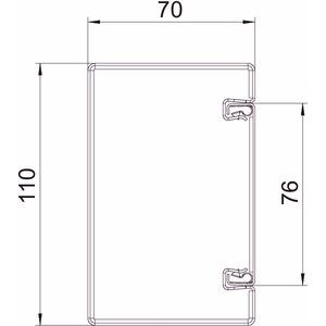 BSKM 0407 RW, Brandschutzkanal I30 bis I120 mit Innenbeschichtung 40x70, St, L, reinweiß, RAL 9010