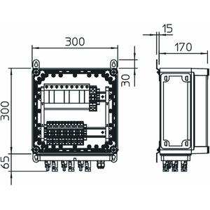 VG-BC DCPH900-31, PV-Überspannungsschutzgerät 3x2 PV-String auf 3 WR-MPP 900V DC