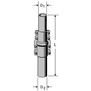ZSD 48 Schiebemast 2 x 2 m, Schiebemast ZSD 48, 4 m, 40/48 mm