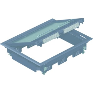GES6 U 7011, Geräteeinsatz für Kanalmontage 273x220x61, PA, eisengrau, RAL 7011