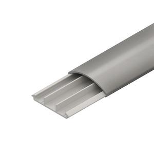 BDK1250.5, Bodenkanal, mit Deckel, 13x50x2000 mm, Kunststoff PVC-hart, RAL 8014, sepiabraun