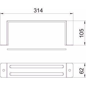 BSKM-VD 1025RW, Verbinder mit Dichtung für Wand- und Deckenmontage 100x250, St, L, reinweiß, RAL 9010